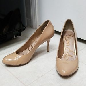 Sam Edelman Nude Patent Leather Classic Pumps EUC